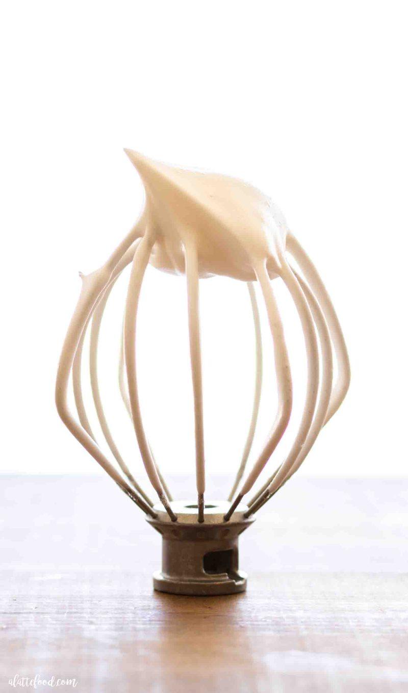 Stiff peaks for egg whites for angel food cake