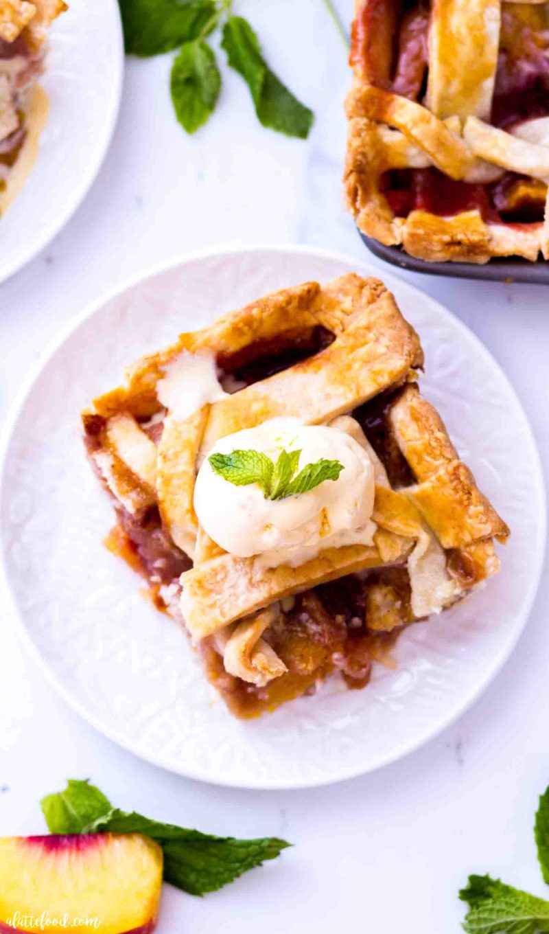 Easy homemade peach pie with an all butter crust