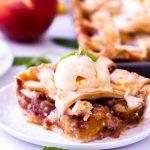 The best peach pie recipe is an easy peach slab pie made with fresh peaches.