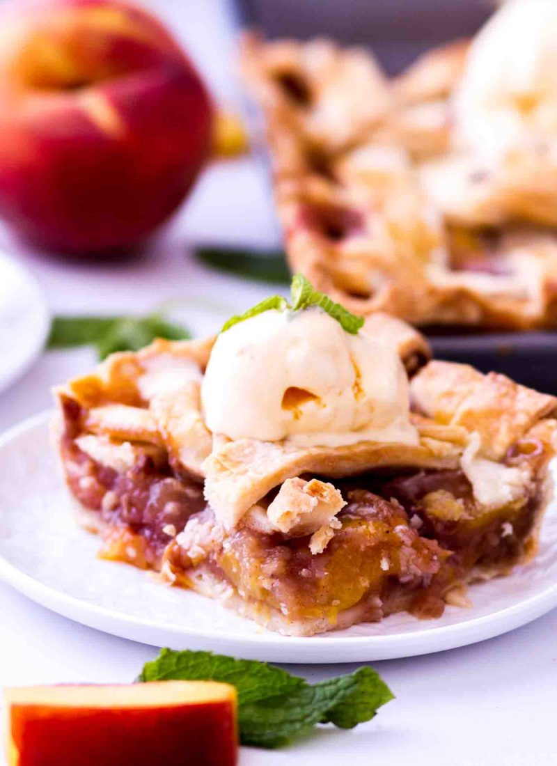 The best peach pie recipe is an easy peach slab pie made with fresh peaches.