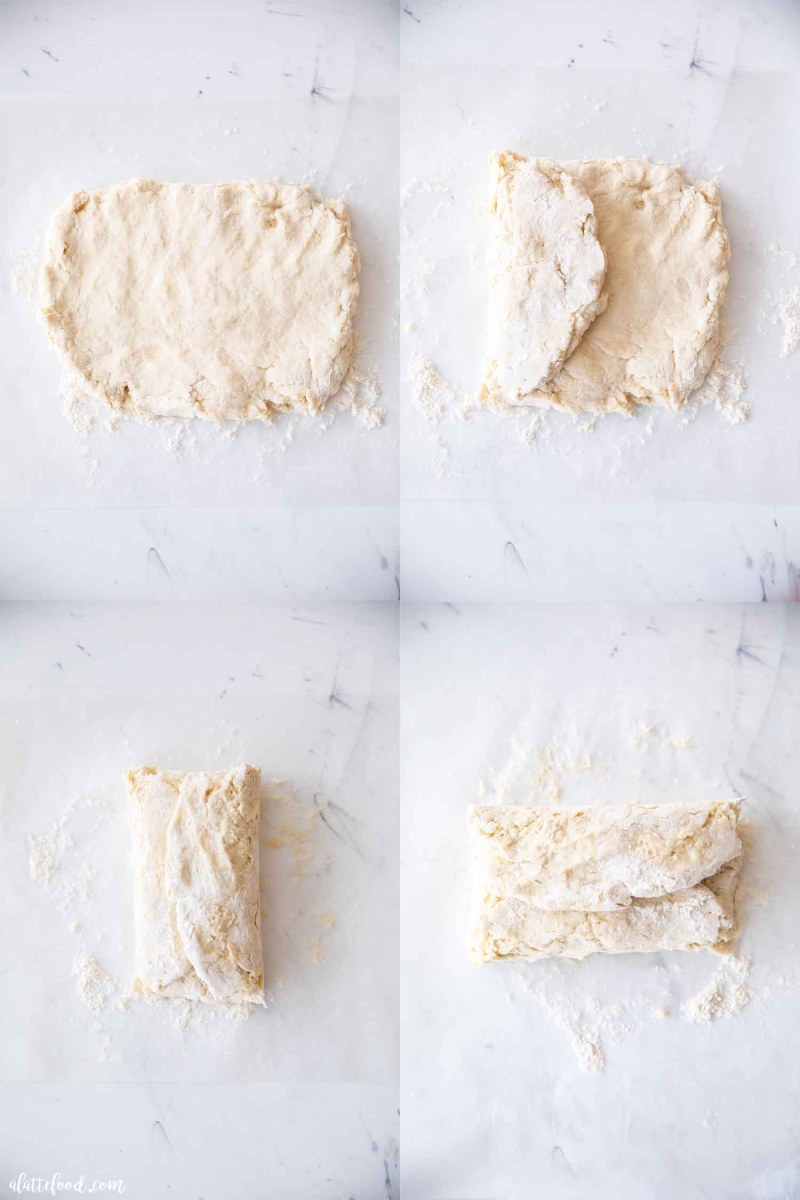 how to make flaky biscuit dough steps