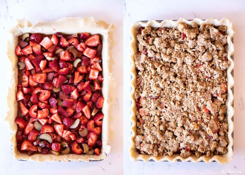 unbaked strawberry rhubarb pie steps