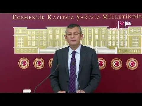 CHP Grup Başkanvekili Özgür Özel Açıklama Yapıyor
