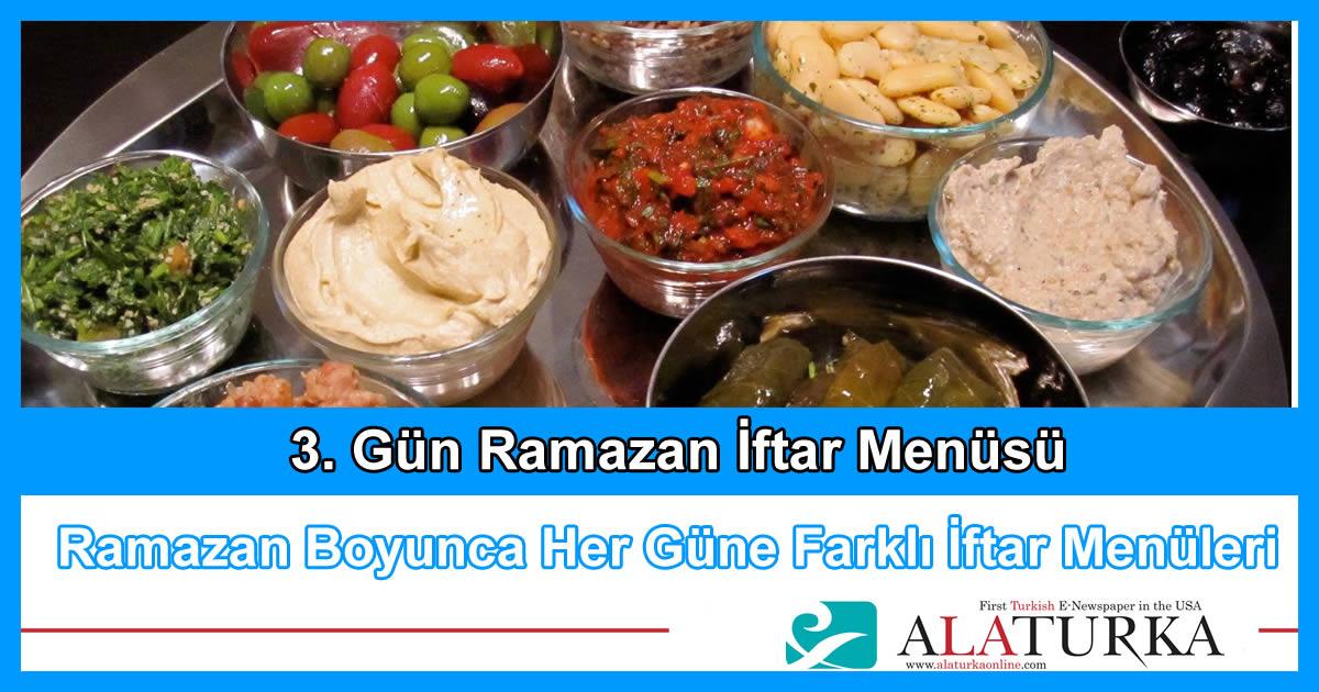 3. Gün Ramazan İftar Menüsü