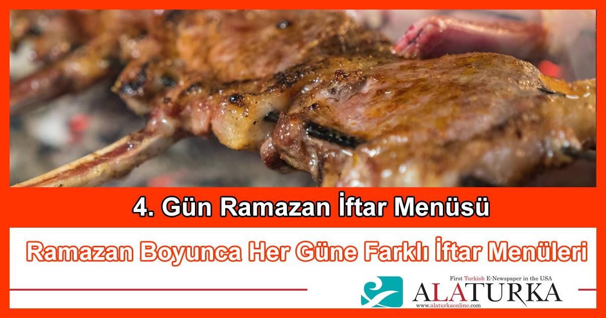 4. Gün Ramazan İftar Menüsü