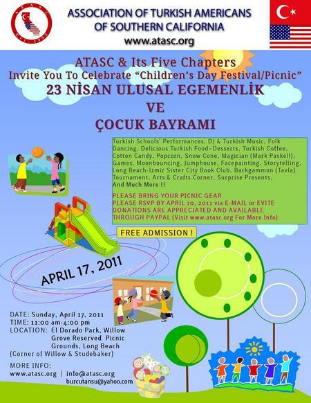 ATASC- Children's Day-23 Nisan Ulusal Egemenlik ve Çocuk Bayramı kutlamaları 2011