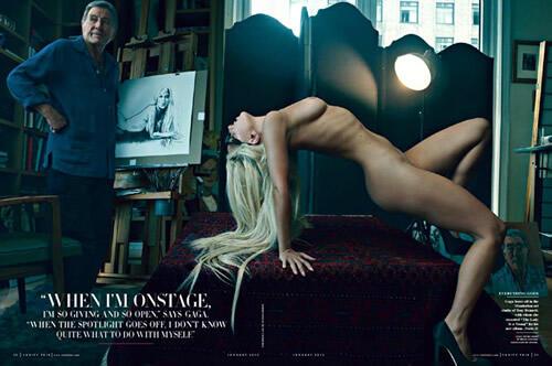 Lady Gaga Vanity Fair çok özel pozları