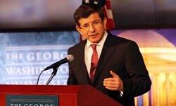 Ahmet Davutoğlu George Washington Üniversitesi'nde öğrencilere hitap etti
