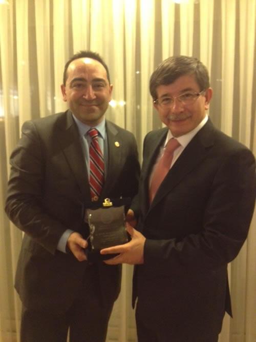 TADF Başkanı Çınar ve Heyeti, Dışişleri Bakanı Davutoğlu ile Görüştü