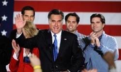 Kritik eyalette zafer Romney'nin