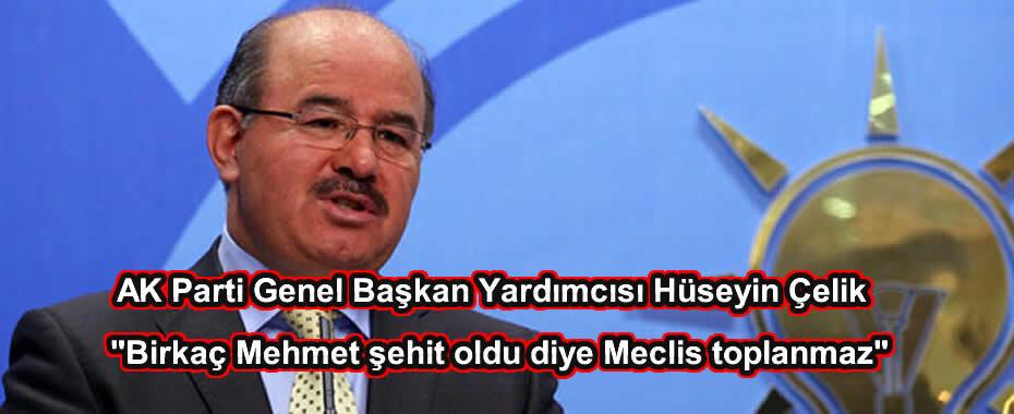 Birkaç Mehmet şehit oldu diye Meclis toplanmaz