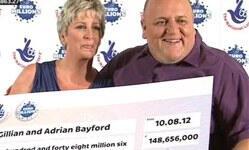 İngiliz çift piyangodan 148 milyon sterlin kazandı