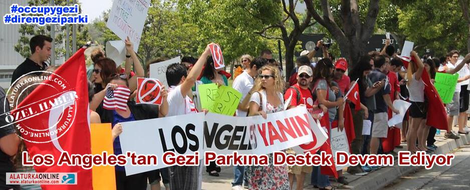 Los Angeles'tan Gezi Parkına Destek Devam Ediyor