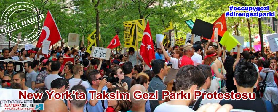 New York'ta Taksim Gezi Parkı Protestosu