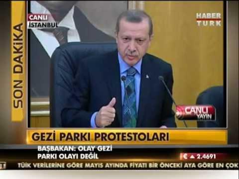 Başbakan Erdoğan'ın Gezi Parkı açıklamalarından satır başları