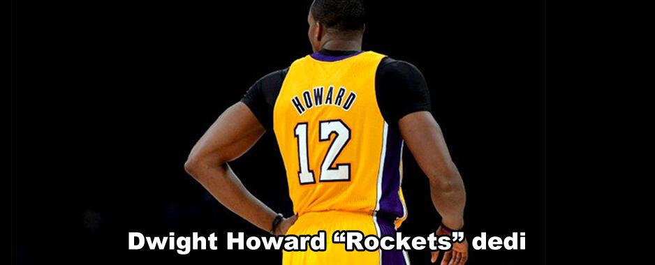 """Dwight Howard """"Rockets"""" dedi"""
