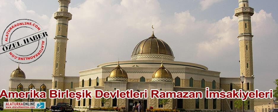 Amerika Ramazan İmsakiyeleri 2013
