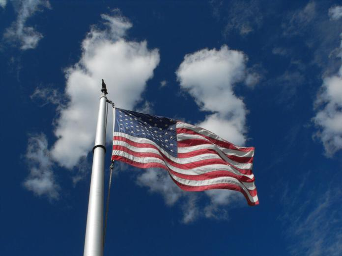us-flag-blue-sky