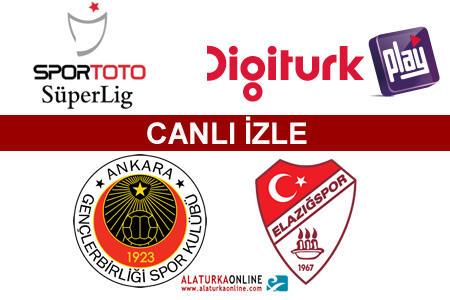 Gençlerbirliği– S.B. Elazığspor maçını canlı izle