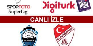 Kayseri Erciyesspor - S.B. Elazığspor maçını canlı izle