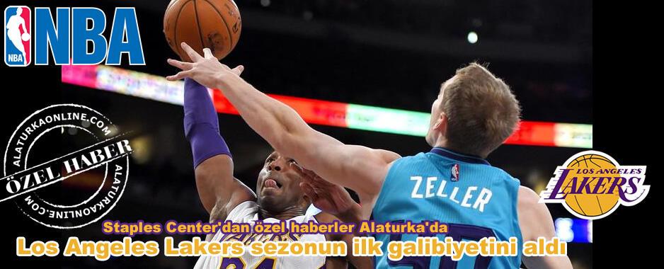 Los Angeles Lakers sezonun ilk galibiyetini aldı #lakers