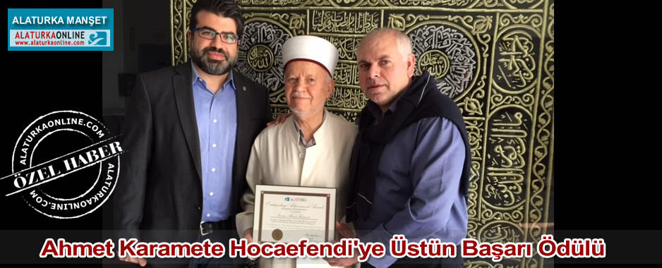 Ahmet Karamete Hocaefendi'ye Üstün Başarı Ödülü