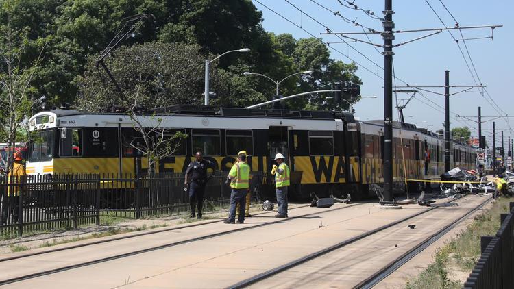 Expo Line train hits car near USC