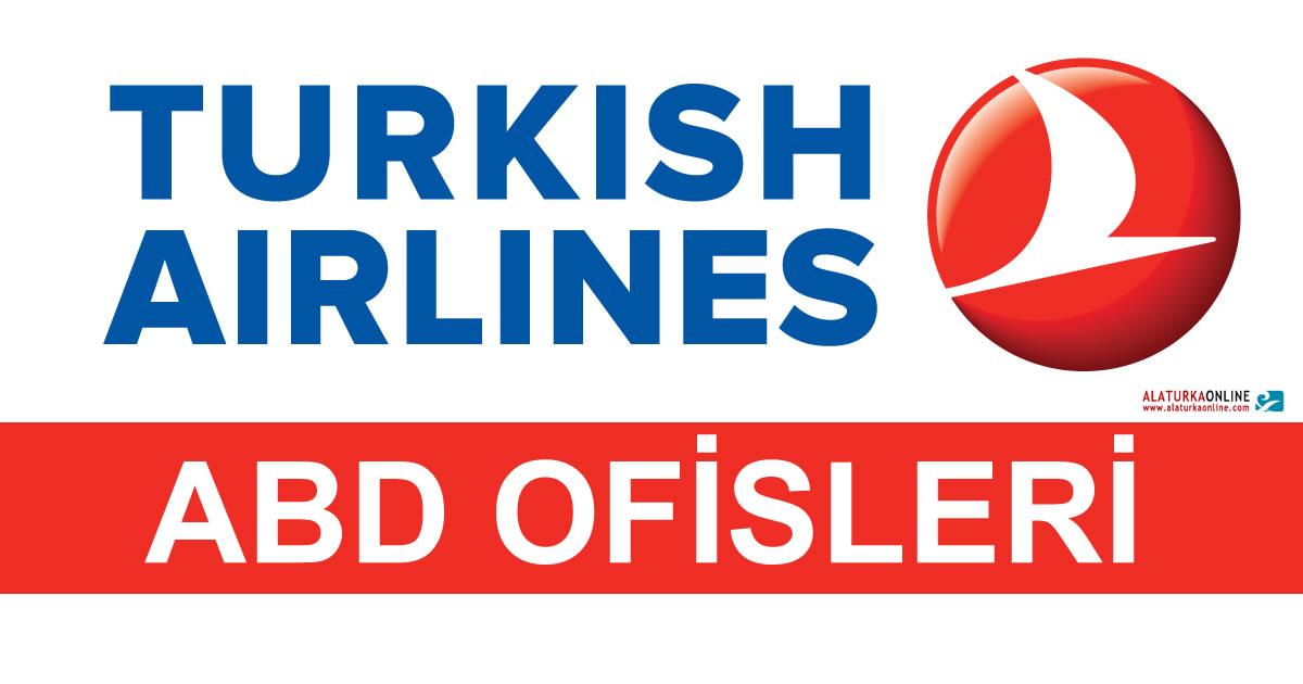 Türk Hava Yolları ABD Ofisleri İletişim Bilgileri