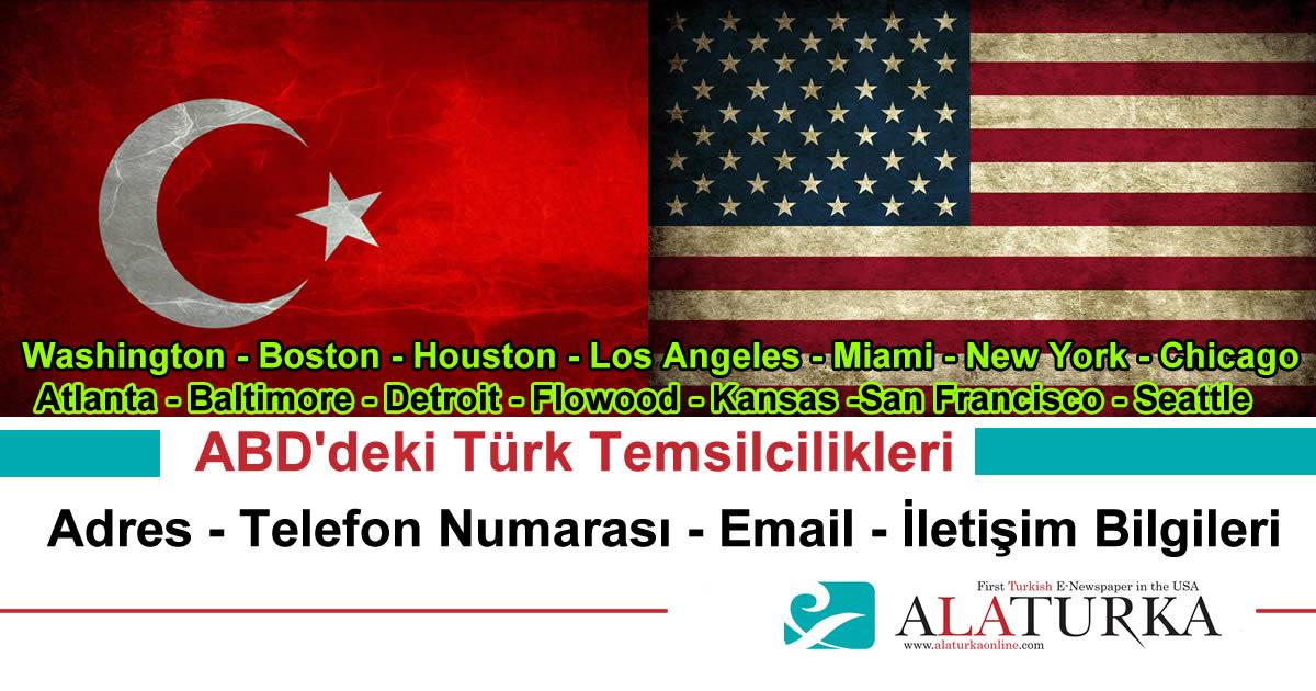 ABD'deki Türk Temsilcilikleri