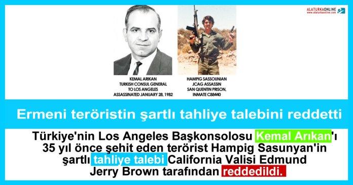 Ermeni Terorist Tahliye Reddedildi