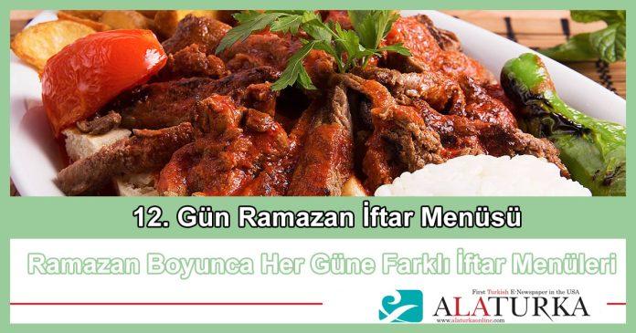 12 Gun Ramazan Iftar Menusu