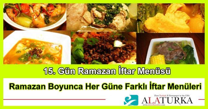 15 Gun Ramazan Iftar Menusu
