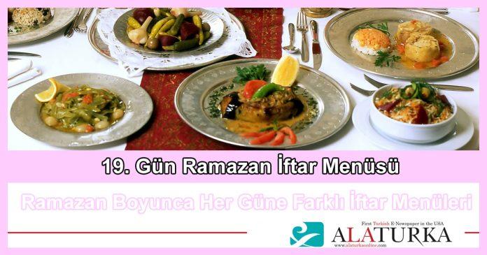 19 Gun Ramazan Iftar Menusu