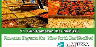 17 Gun Ramazan Iftar Menusu