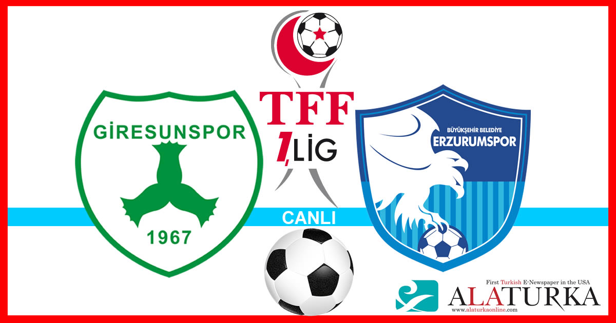 Giresunspor – Erzurumspor maçını canlı izle