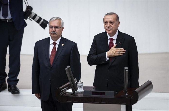Cumhurbaskani Erdogan Yemin Toreni