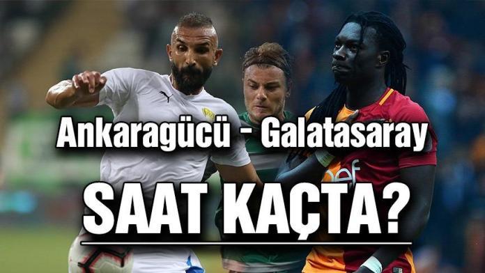 Ankaragücü Galatasaray maçı saat kaçta, hangi kanalda? GS Ankaragücü ne zaman