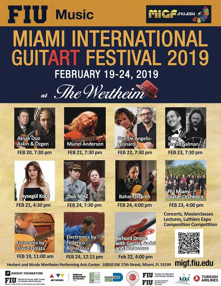 4. Miami Uluslararası Guitart Festivali'nde 5 Türk sahne alacak