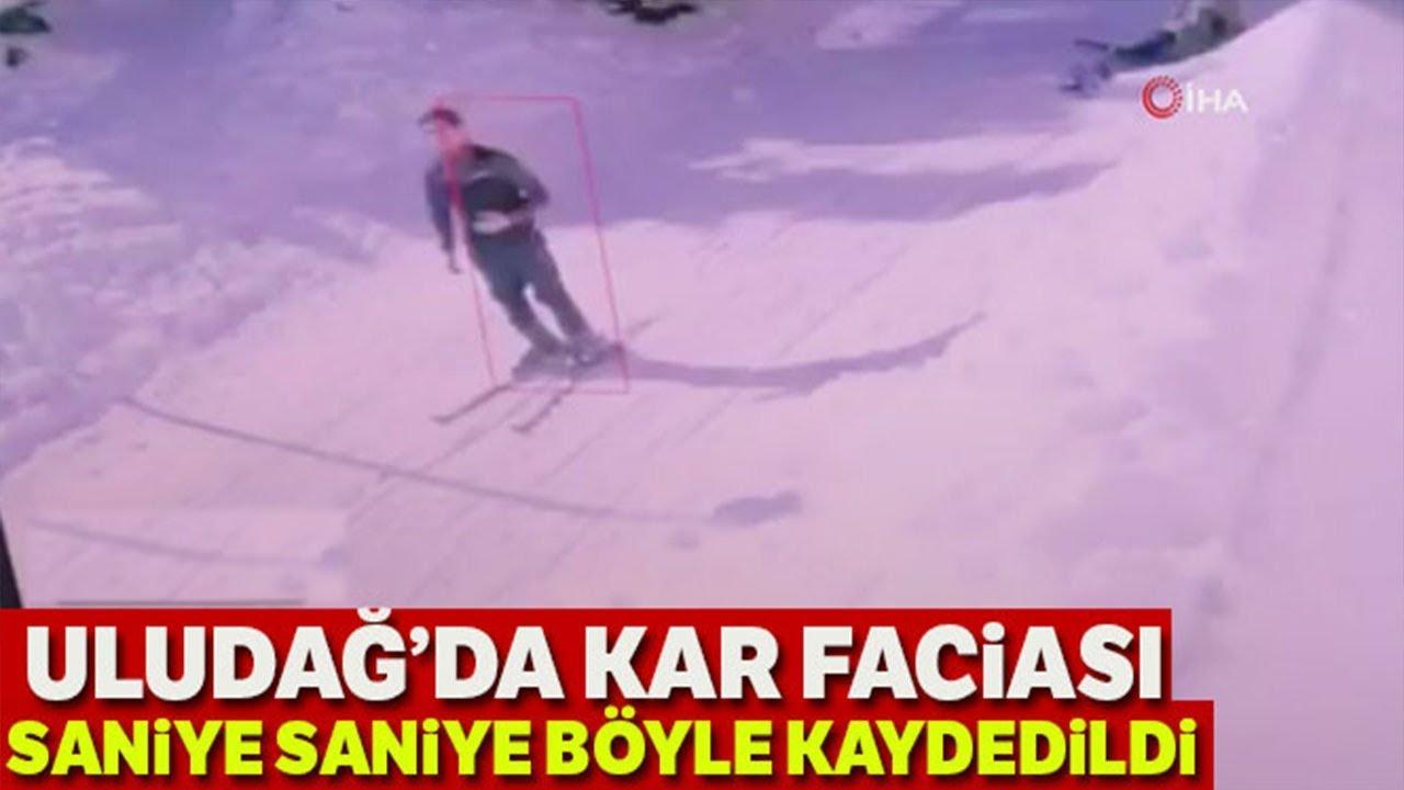 Uludağ'da Kar Tatilcilerin Üzerine Böyle Çöktü! Yaşanan Panik Anları Kamerada