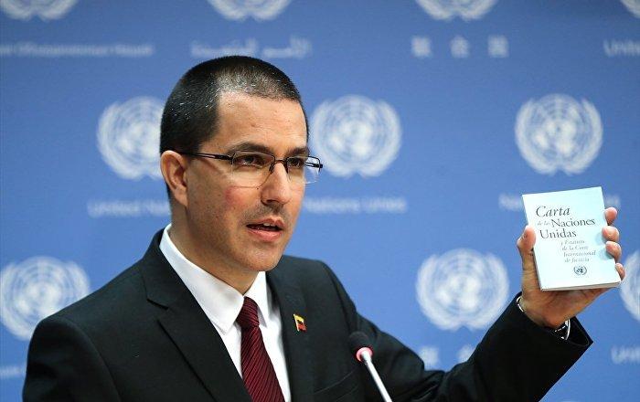 Venezüella Dışişleri Bakanı Arreaza: İçinde ne olduğunu bilmediğimiz yardım kutularını ülkeye almamız için bizi zorluyorlar