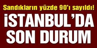 Sandiklar yuzde 90 Acildi Istanbul Son Durum