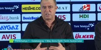 Fenerbahce Galatasaray Mac Sonu Fatih Terim