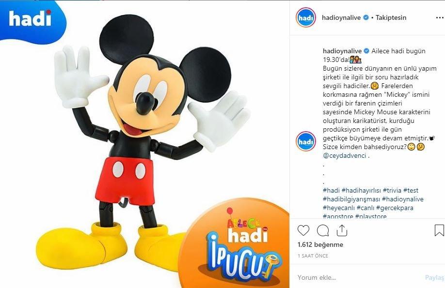 Mickey Mouse karakterini oluşturan karikatürist kimdir?