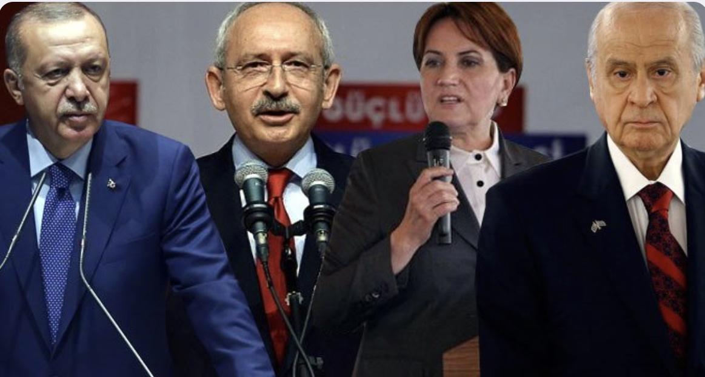 6 farklı anket şirketine göre partilerin oy oranları ! Bomba sonuçlar !
