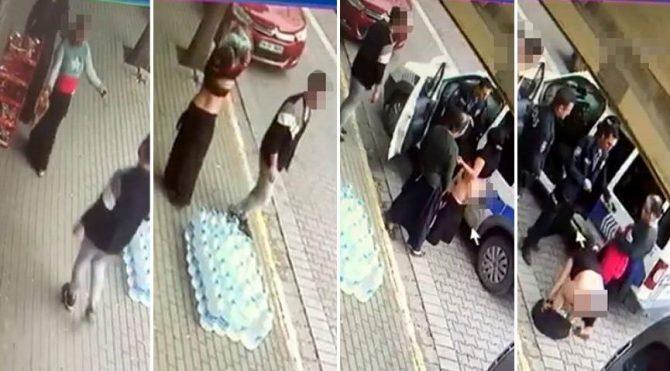 Parayı almakla suçlanınca sokak ortasında soyundu