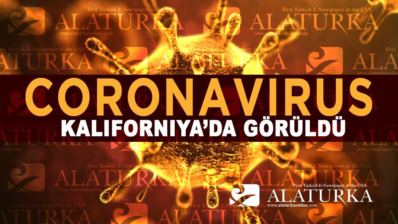 Coronavirus ABD'nin Kaliforniya Elayeti'nde Görüldü