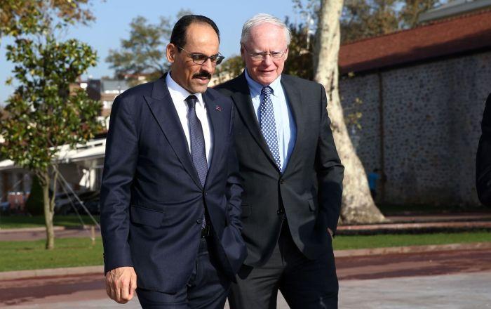 Cumhurbaşkanlığı Sözcüsü Kalın ABD'nin Suriye Özel Temsilcisi Jeffrey ile görüştü