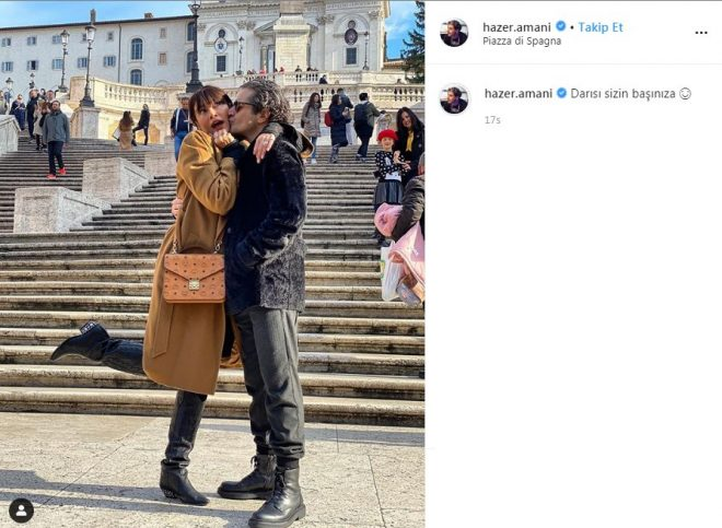 Sıla ve Hazer'den Roma'da aşk dolu paylaşım