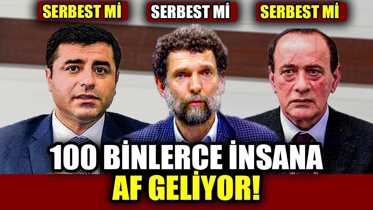 100 Binlerce İnsan'a AF AKP'nin İnfaz İndirimi Gündemde Kimleri Kapsıyor Demirtaş Çakıcı Kavala .. ?