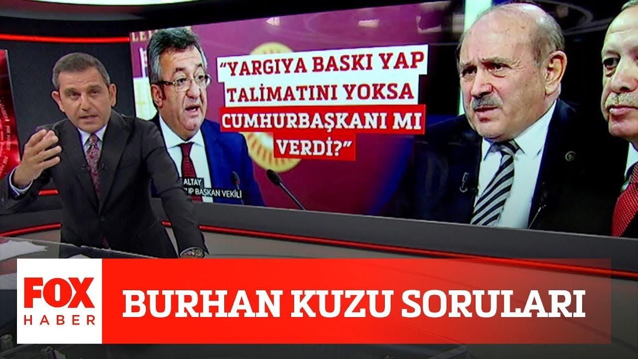 Burhan Kuzu soruları… 2 Haziran 2020 Fatih Portakal ile FOX Ana Haber